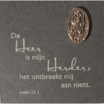 """Schieferplatte """"De Heer is mijn.."""" (1 Stück)"""