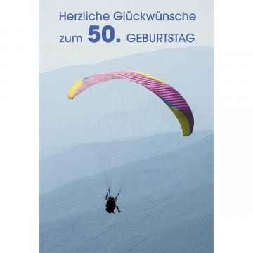 Glückwunschkarte Herzliche Glückwünsche zum 50. Geburtstag (6 Stück)