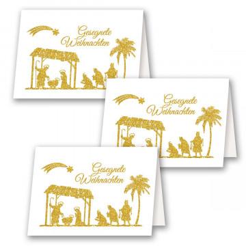 3er-Set Weihnachtskarte »Gesegnete Weihnachten«