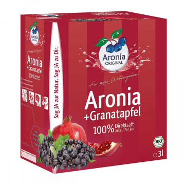 Bio Aronia-Granatapfel-Direktsaft