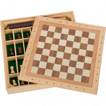 Spiele-Set Schach-Dame-Mühle