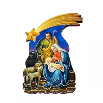 Magnet-Krippe »Heilige Familie mit Stern«