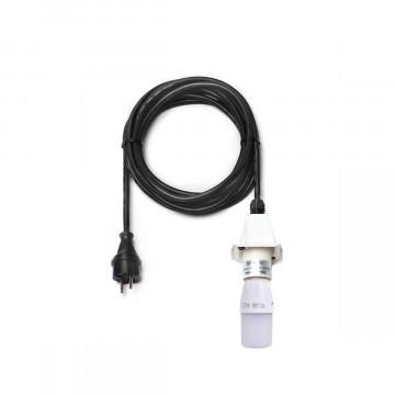 5-Meter-Kabel mit weißer Fassung und LED