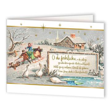 Weihnachtskarte »O du fröhliche«