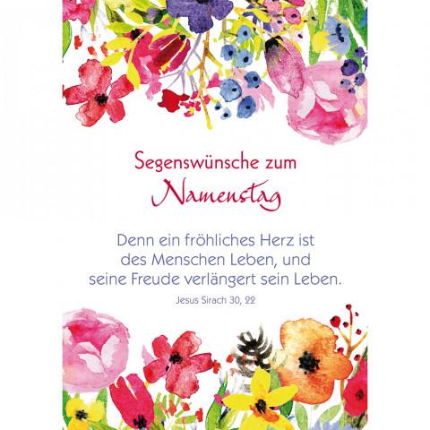 Postkarte Segenswünsche zum Namenstag (10 Stück)