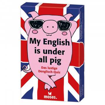 Kartenspiel »My English is under all pig«