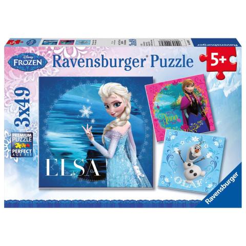 Disney Frozen: Elsa, Anna & Olaf. Puzzle 3 x 49 Teile