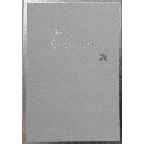 Trauerkarte - Stilles Gedenken (6 Stück)