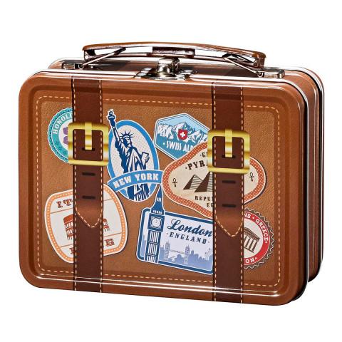 Reise-Koffer mit Proviant