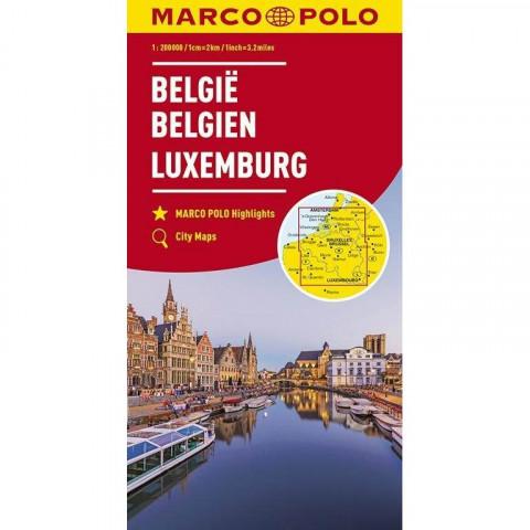 MARCO POLO Karte Belgien, Luxemburg 1:200 000