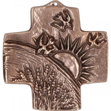 Kommunionkreuz aus Bronze - Schöpfung (1 Stück)