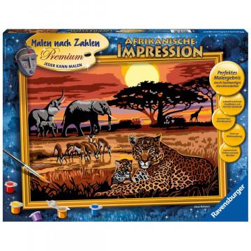 Afrikanische Impression. Malen nach Zahlen Serie Premium