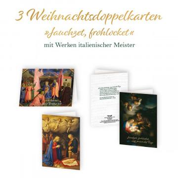 3er-Set Weihnachtskarten »Jauchzet frohlocket«