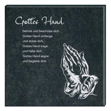 Schiefertafel »Gottes Hand«