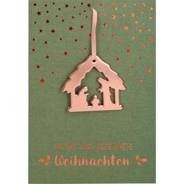Glückwunschkarte Frohe und gesegnete Weihnachten (5 Stück)