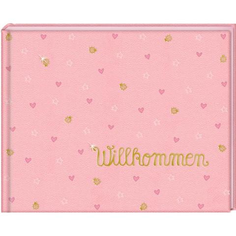 Babyalbum - BabyGlück - Willkommen. Rosa