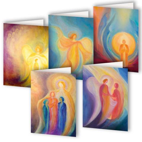 5er-Set Grußkarten »Ein Schutzengel für dich«