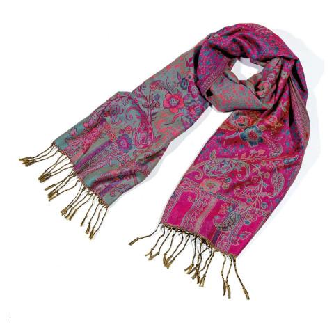 Pashmina-Schal mit Blumenmotiven