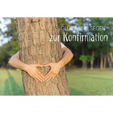 Glückwunschkarte Glück und Segen zur Konfirmation (6 Stück)