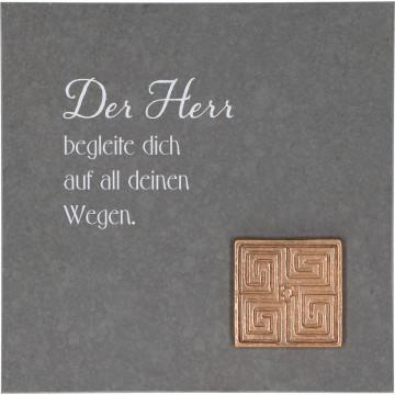 Schieferrelief Der Herr begleite dich (1 Stück)