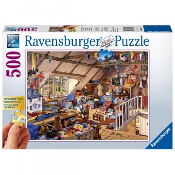 Großmutters Dachboden. Puzzle 500 Teile