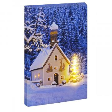LED-Bild »Winterlandschaft auf Leinwand«