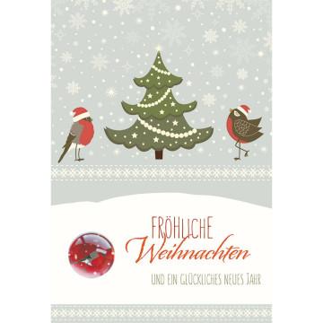 Doppelkarte Fröhliche Weihnachten und ein glückliches neues Ja (5 Stück)