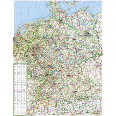 Die große Deutschlandkarte 1 : 750 000. Poster-Karte