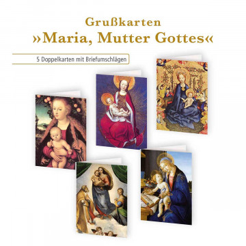 5er Set Klappkarten »Maria, Mutter Gottes«
