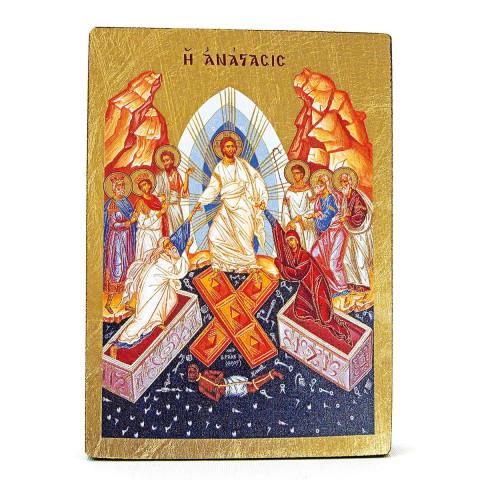 Siebdruckikone »Die Auferstehung«