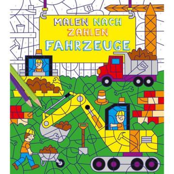 Malen nach Zahlen für Kinder: Fahrzeuge