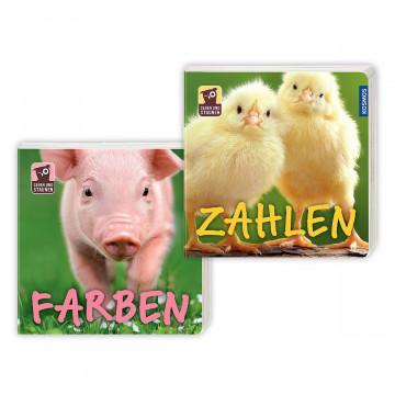 2er-Set Pappbilderbücher »Zahlen und Farben«