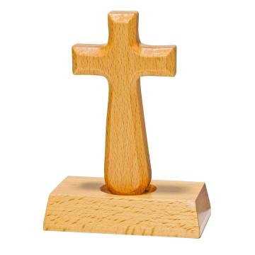 Holzkreuz mit Magnet