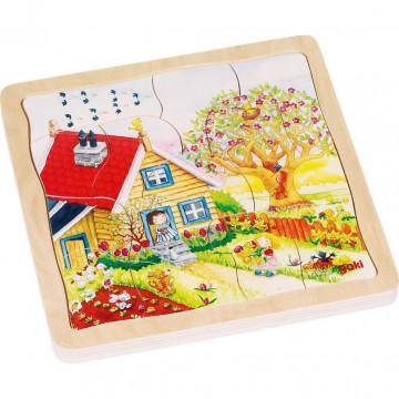 Schichtenpuzzle Jahreszeiten 54 Teile