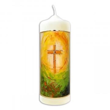 Kerze »Ostern lässt das Leben strahlen«