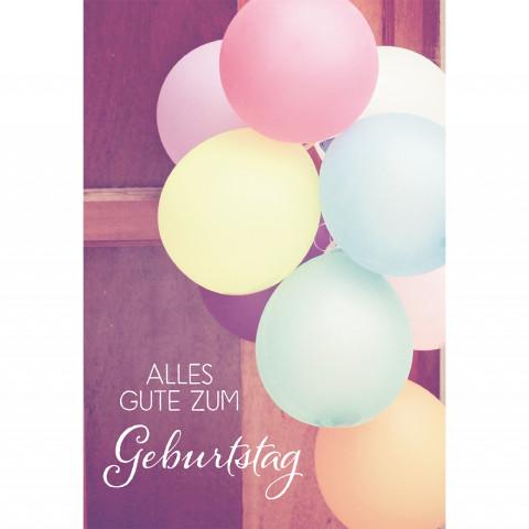 Glückwunschkarte Alles Gute zum Geburtstag (6 Stück)