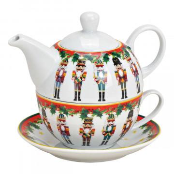 Teekannen-Set »Nussknacker«