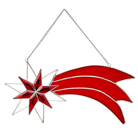 Bleiglasschmuck Stern von Bethlehem mit Facettenschliff