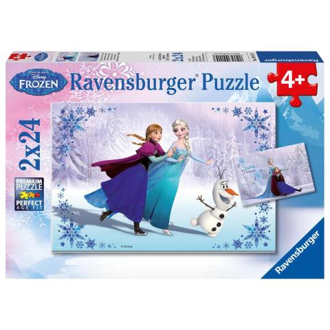 Disney Frozen: Schwestern für immer. Puzzle 2 x 24 Teile