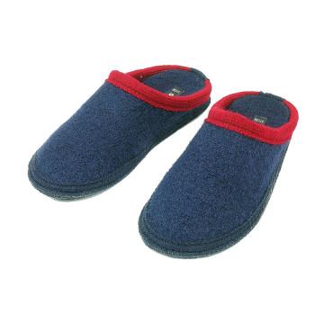 Herren-Hausschuhe »Blau-Rot«
