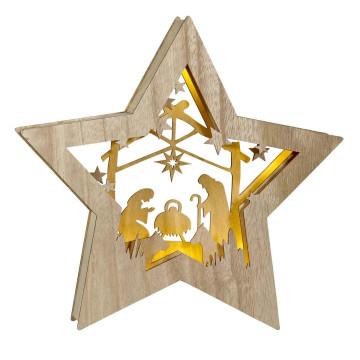 Holzstern »Die heilige Familie«