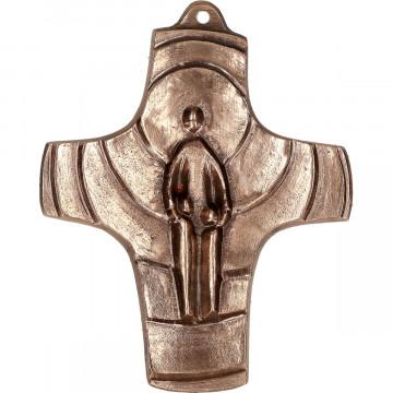 Kommunionkreuz aus Bronze - Ich bin bei euch (1 Stück)