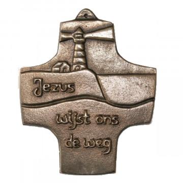"""Kommunionkreuz """"Jezus wijst ons de weg"""" (1 Stück)"""