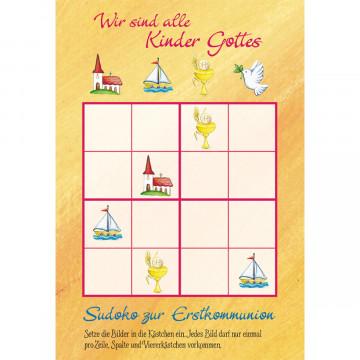 Glückwunschkarte zur Kommunion Zur Erstkommunion (6 Stück)