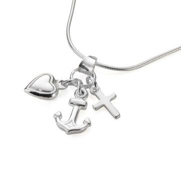 Silber-Halskette »Glaube, Liebe, Hoffnung«