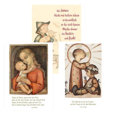 Postkarten-Set »Sei heiter und froh«