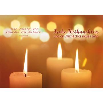 Postkarte Frohe Weihnachten und ein glückliches neues Jahr (10 Stück)