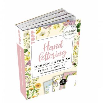 Handlettering Design Paper Block Cottage Dreams A6