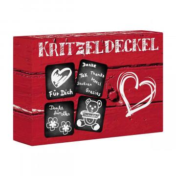 Kritzeldeckel »Danke«