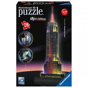 Empire State Building bei Nacht. 3D Puzzle 216 Teile